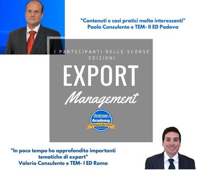 Corso in Export Management - Testimonianze